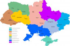 Карта регионов Украины